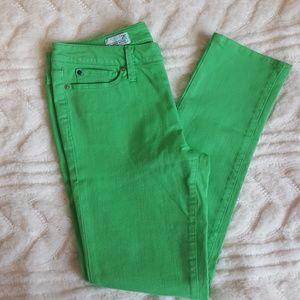 GAP 1969 Always Skinny green jeans